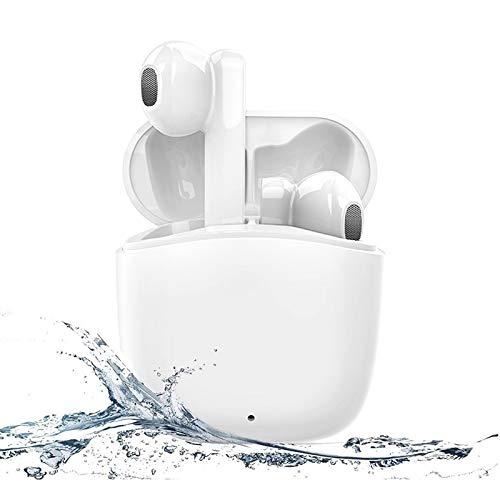 Auriculares Bluetooth 5.0, Auriculares Inalámbricos Bluetooth Deportivos IPX5 Impermeable, In-Ear Cascos Bluetooth Inalámbricos con Microfono Dual y Caja de Carga Rapida para Android/Huawei/Xiaomi