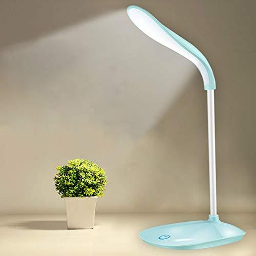 Cting Lámpara de Escritorio LED, USB Lámpara Recargable Plegable Táctil Control de 20 LED, Con Protección de Los Ojos, 3 Intensidades de Luz Ajustables para Habitación Oficina Lectura y Trabajo