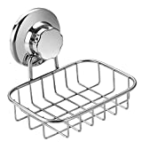 Slideep Vacuum Suction Soap Dish Holder, Rustproof Stainless...