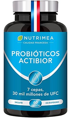Probióticos y Prebióticos 30 Mil Millones de UFC 60 Cápsulas | 7 Cepas Lactobacilos y Bifidobacterias | Protege Flora Intestinal Mejora Sistema Inmunológico Candidiasis Colon Irritable Estreñimiento
