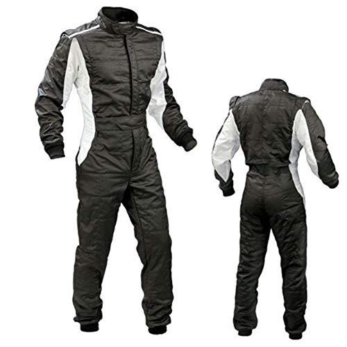 Racing Motorsport Herren Einteiliger Rennanzug für Auto Rennanzug Motorrad Kart Feuerfest 2-lagig Negro A ·