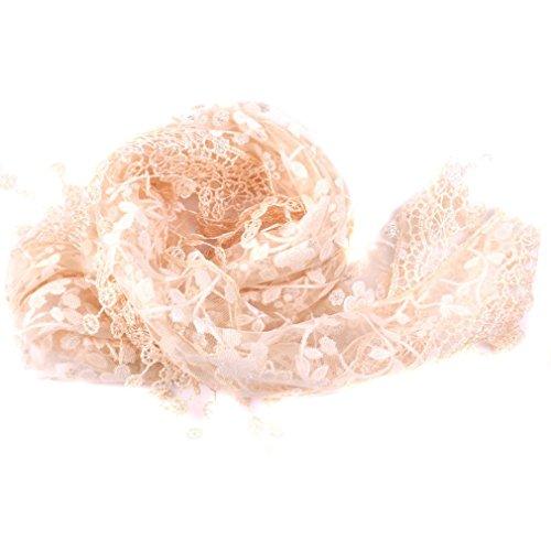 HENGSONG Damen Spitze Quaste Schals Halstuch Frühling Herbst Kleidung Zubehör (Hellrosa)
