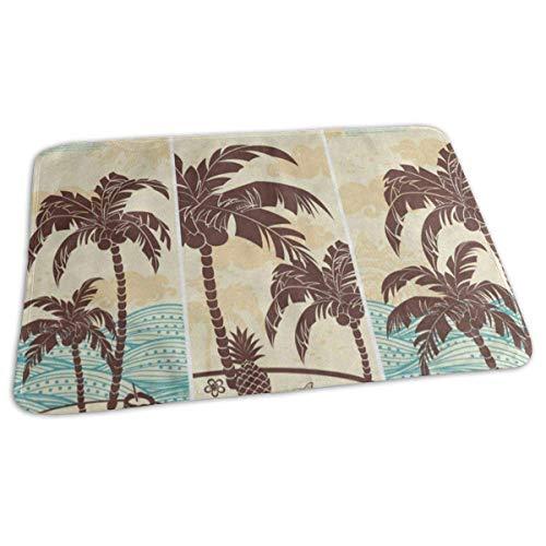 G.H.Y Vintage Hawaiian Island Ocean Palm Tree Mat Alfombra Vinta 40 * 60 Cm