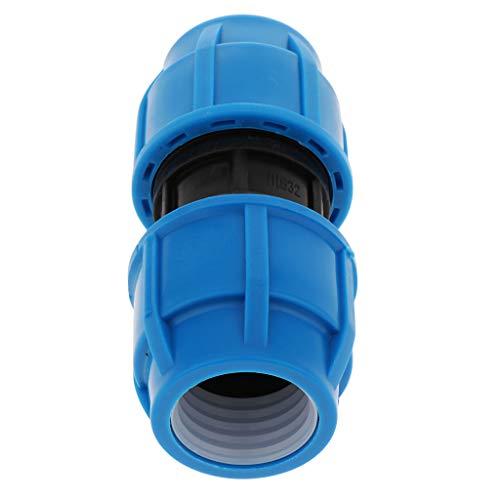 perfk Connecteur Tuyau Double Accoupleur Raccord d'Arrosage Rapides Pour Tuyau - 32mm