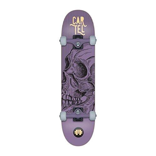 Cartel Calavera Skateboard 7,8 Zoll, Metall, Violett