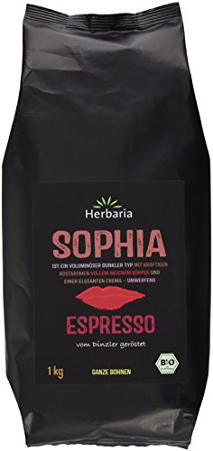 Herbaria Sophia Espresso ganze Bohne BIO, 1er Pack (1 x 1 kg)
