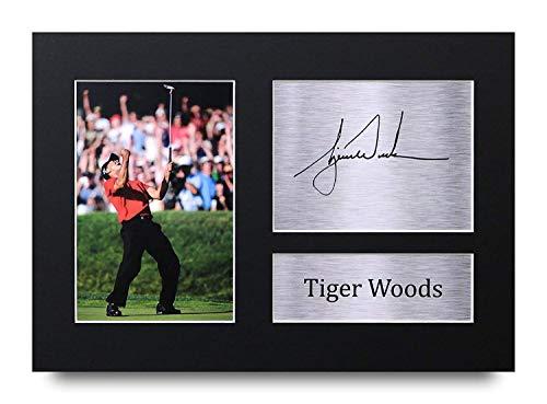 HWC Trading Tiger Woods A4 Ungerahmt Signiert Gedruckt Autogramme Bild Druck-Fotoanzeige Geschenk Für Golf-Fans
