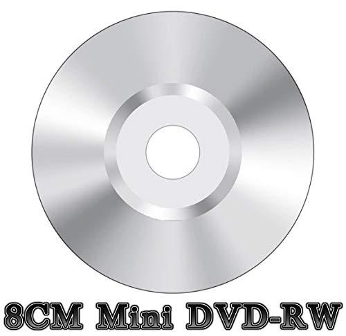 100 x mini 8 cm DVD-RW riscrivibile videocamera disco argento (4 x 30 min 1,4 GB)