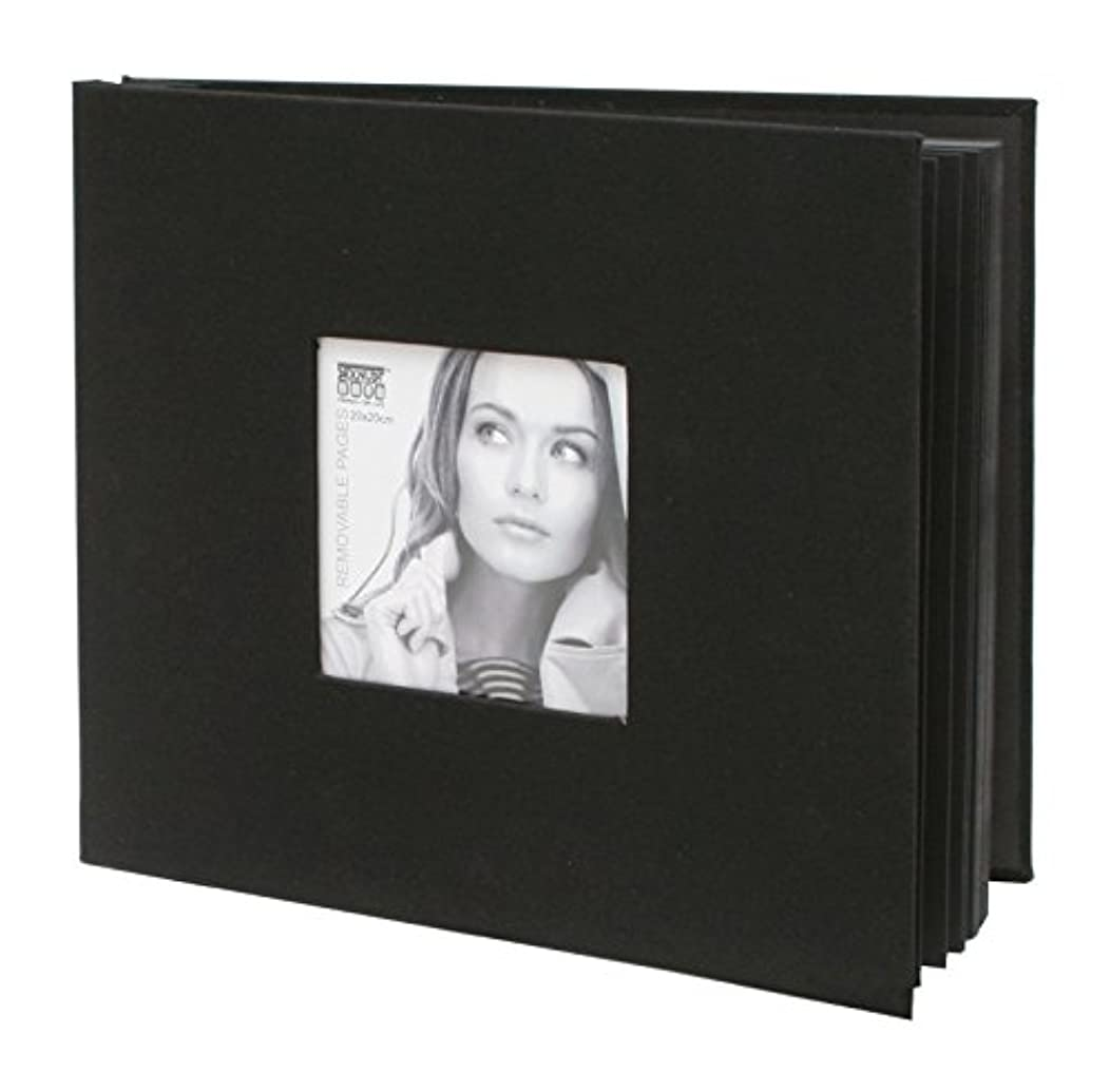 Deknudt a66dh240si 20?0X20?0?Black Faux Leather Photo Album?–?Box or 21.5?x 21.5?x 3?cm