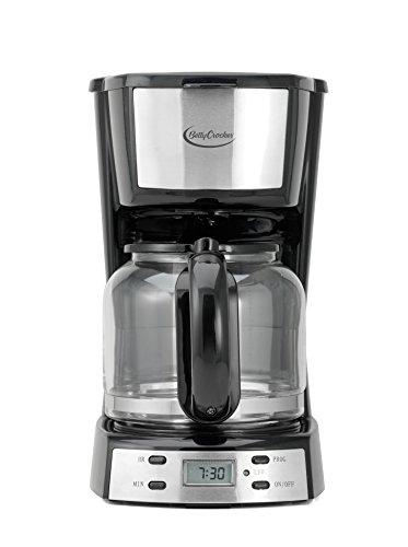 Betty Crocker 12-Cup Digital Coffee Maker, Stainless Steel, BC-2809CB