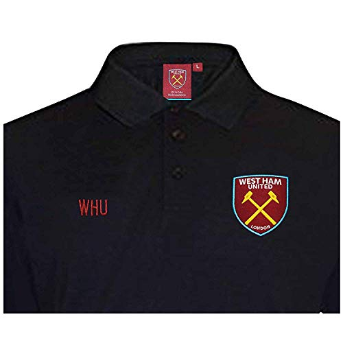 West Ham United Official Football Crest Leisure Polo Shirt (Adults & Kids) (X-LARGE)