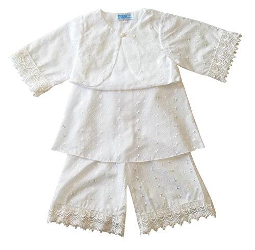 Seruna Tauf-Kleid L01 Gr. 80/86 Baby-Kleider für Mädchen zur Taufe u. Hochzeit Geschenk-e für Babies