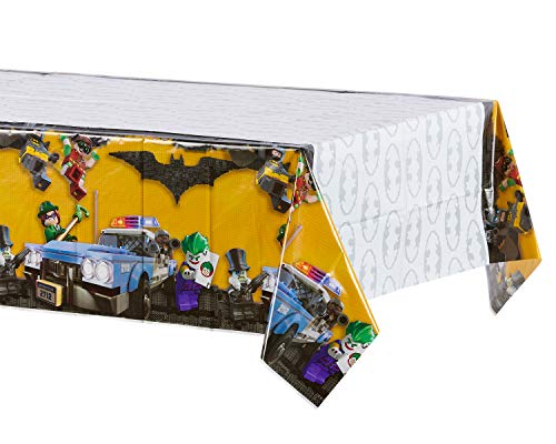 American Greetings Lego Batman Party Supplies, Plastic Table Cover, 54' x 96'