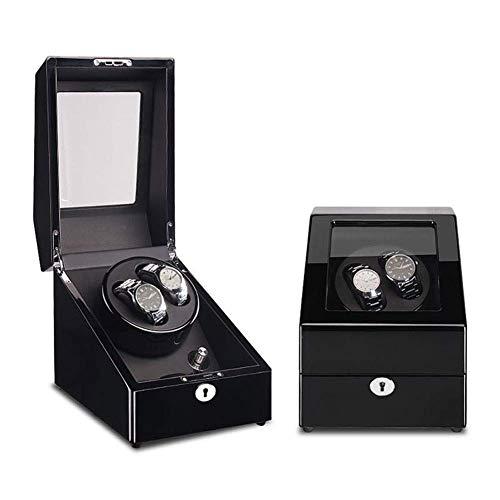 FFAN Enrollador de Reloj automático, Caja de Madera, Modo 5, Motor silencioso, Caja de Almacenamiento de Cuero 2 + 3 Good Life