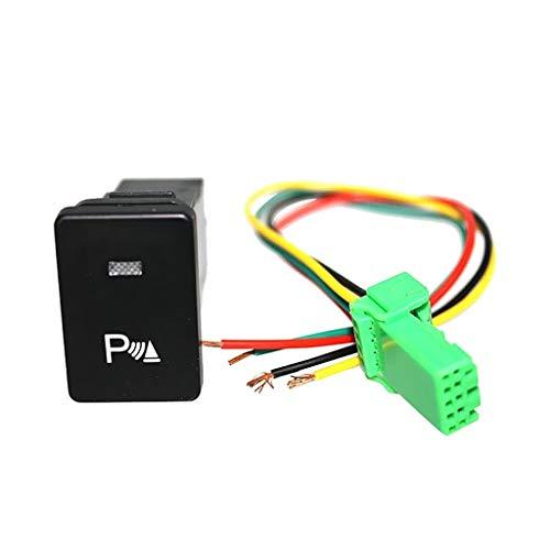 XDTLD Interruptor de botón LED con el botón Conveniente for los Autos, con el Interruptor de los Faros antiniebla-Parada Potencia de luz Símbolo-Blanco relé (Color : Parking sysmbol)