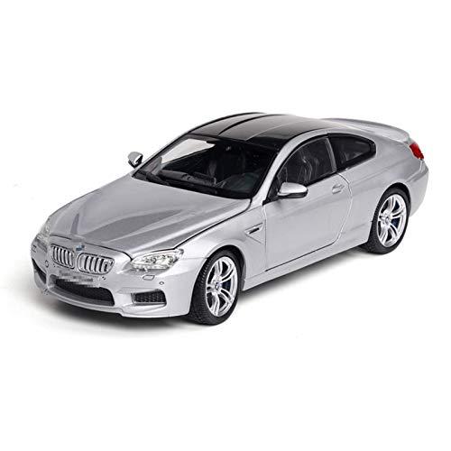 fgg Modelo Coche 1:24 para BMW para M6 Modelo de automóvil Modelo de aleación Modelo Modelo Modelo Pull Back Sound Light Toy Coche Juguete Cumpleaños para Niños Regalo (Color: Boxed Silver) fengong