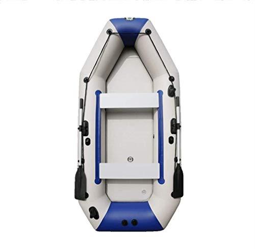 4-5 Personen Ausflug Aufblasbares Kajak-Angriffsboot Mit Aluminium-Rudern Und Hochleistungs-Luft-Fußpumpe - Pool-Strandspielzeug - Angler Und Freizeitsportler Sitzen Auf Leichtem Weißem Fischerboot