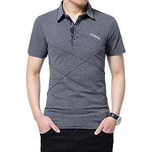 YIGAR メンズ ポロシャツ 半袖 襟付き 大きいサイズ 多色選択 M-5XLゴルフウェア 通気性 吸汗速乾 Tシャツ スポーツ オフィス 無地 カジュアル シンプル ファッション 綿 709深灰2XL