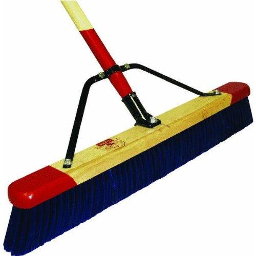 Harper Brush 7924A 24' Heavy Debris Pushbroom w/Handle - Stiff