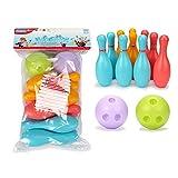 Boule De Bowling Pour Enfants - 10 Quilles Colorées Et 2 Petites Boules De Bowling - Jeux Éducatifs Pour Le Développement Précoce À L'intérieur Et À L'extérieur Pour Les Jeux En Famille, Mini-jeu De