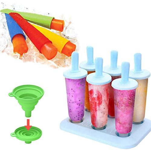 BSET BUY Eisform, DIY hausgemachte kreative Eisformen, EIS am Stiel Schimmel Set mit Silikontrichter …