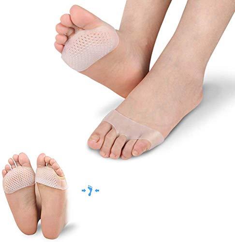 5 Paar Silikon Zehenspreitzer Schmerzlinderndes Kissen Weiche Gel Einlegesohlen Vorfußpolster Unsichtbare Schuhe rutschfeste Einlegesohle Fußpflege