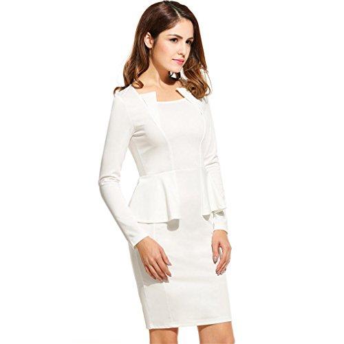 Sexy femmes robe Crayon ANGVNS Parti Court élégant Mini Robe Bodycon OL Business Casual Black Vestidos Grande Taille blanc XL