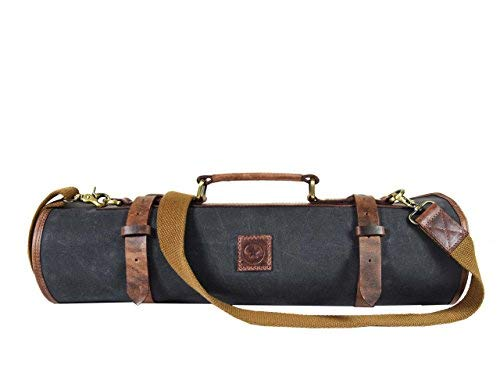 Leather Knife Roll Storage Bag - Best Gift For Chefs With Knives