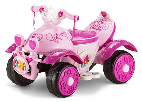Kid Trax Toddler Disney Princess Electric Quad Ride On Toy, Kids 1.5-3 Years...