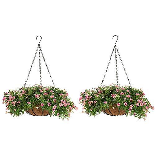 2 Piezas Cesto Colgante para Macetas Cestas Colgantes 30cm para Plantas, Jardineras...
