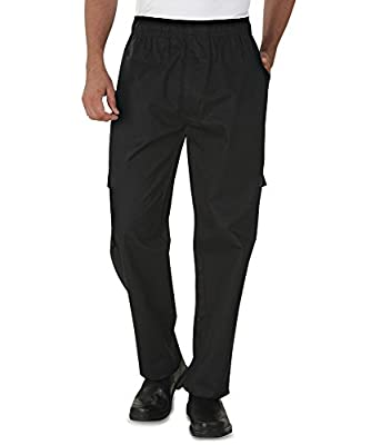 Men's Utility Cargo Chef Pant (XS-4X, Black)