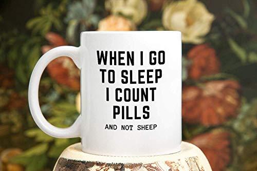 Pharmarcy Tech Gift Pharmacist Mug Count Pills Not Sheep