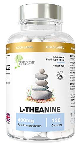L-Theanine | 120 capsule di L-Teanina pregiata | Vegan...