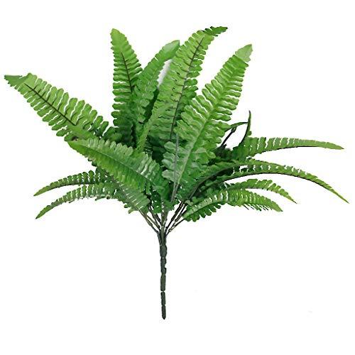 Beitsy Kunstgrüner künstlicher Betrieb des grünen Farns 7 Gabel 21 Blatt-Simulation persischer Grasdekor