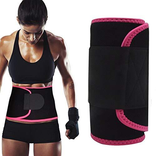 Rockfieln Slimming Belt Waist Shaper Tummy Trimmer Neoprene Hot Sauna Waist Sweat Slim Belly Stomach Fat Cutter Exerciser Weight Loss Unisex Sizes- Adjustable Multi Colour