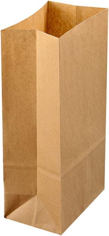 50pcs Brown Paper Lunch Bags 21.5 x 12 x 7cm Kraft Paper Multi-f
