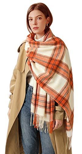 Longwu 2020 nouveau cachemire hiver longue écharpe écharpes Plaid chaud enveloppes laine Style britannique pour femmes dames gland châle longue étole