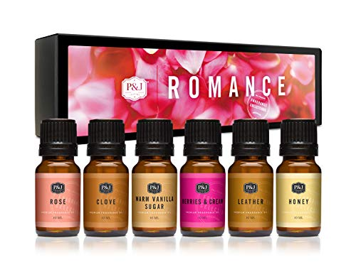 P&J Trading Fragrance Oil | Romance Set of 6 - Scented Oil for Soap Making, Diffusers, Candle Making, Lotions, Haircare, Slime, and Home Fragrance