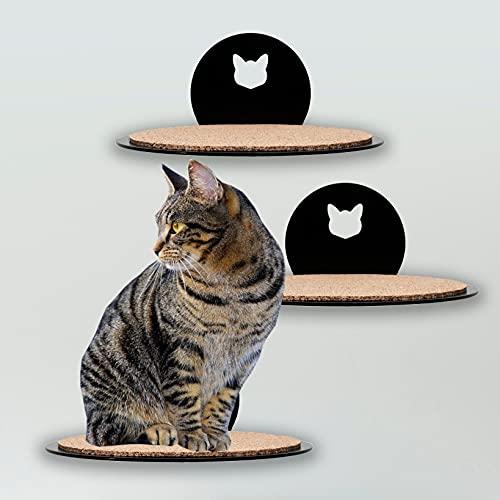 Kletterwand Katzen - Robuste Katzentreppe Wandmontage - Katzenleiter aus hochwertigem Stahl - Matt Schwarzer Katzen Wandpark - Belastbare Katzen Kletterlandschaft - Made in Germany