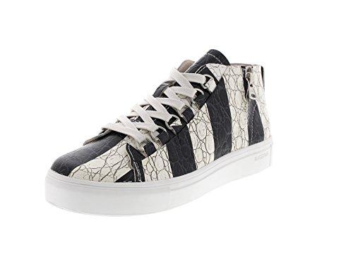 Blackstone Damenschuhe - Sneaker NL43 - Stripes Black, Größe:37 EU
