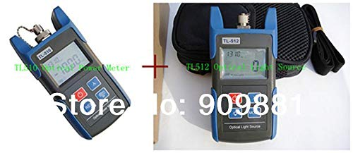 Tool Parts The Best Choice of FTTH Optical multimeter Fiber equipment TL510A -70~+10dBm Optical Power Meter and TL512 Optical Light Source