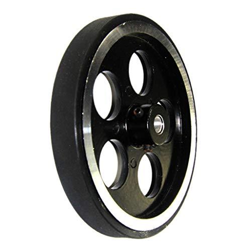 SM SunniMix Aluminiumlegierung Roboter Reifen Autoreifen Roboter Rad mit C300 Umfang für Intelligentes Spielzeug