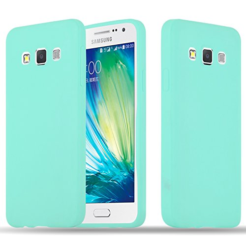 Cadorabo Funda para Samsung Galaxy A3 2015 en Candy Azul – Cubierta Proteccíon de Silicona TPU Delgada e Flexible con Antichoque – Gel Case Cover Carcasa Ligera