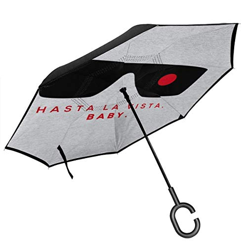 With C-Shaped Handle UV Protection Inverted Folding Umbrellas Windproof And Rainproof Double Folding Inverted Umbrella Tokyo Ghoul Car Reverse Umbrella