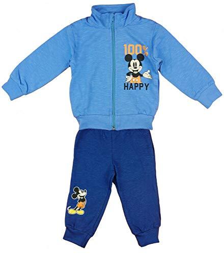 Disney Baby Set Trainingsanzug Mickey Mouse 2 TLG Hell Blau Junge Sportanzug 80 86 92 98 Jogginganzüge für Baby-Jungen, Größe: 80