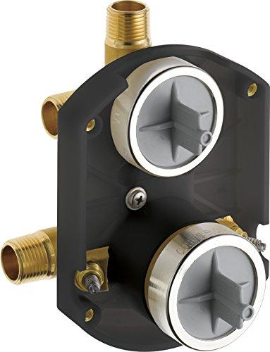 Delta Faucet R22000 MultiChoice Universal Valve 3-Setting 6-Setting Custom Shower Integrated Diverter Rough, Custom Shower Valve Kit, Brass Construction, R22000-WS (Screwdriver Stops Included)