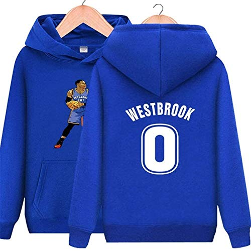 Sudadera con Capucha NBA Unisex Houston Rockets Sudadera de Baloncesto 0Russell Westbrook Camisa de Manga Larga Prime Pullover Fleece Hoodie con Bolsillo de Canguro (Color: Rojo, Tamaño: XL) - Unisex