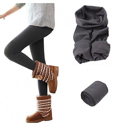 Thermo-leggings voor dames, meisjes, verschillende kleuren en maten – grijs, L-XL