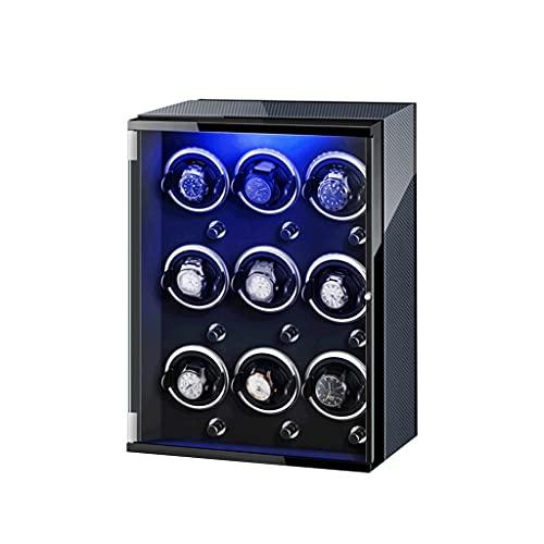 LUYJKL Reloj devanadera siete colores para relojes automáticos con motor súper silencioso 4 modo de rotación ajuste flexible felpa almohada ajuste señora y hombre