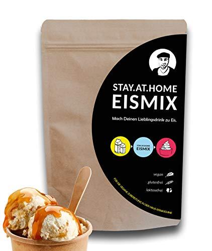 Stay At Home Eismix / vegan / laktosefrei / glutenfrei / Eismaschine / Eis DIY / Eispulver / Speiseeis / Veganer / Eismischung / selber machen/ Eispulver für Eismaschine/ Eisbasis/ veganes Eispulver